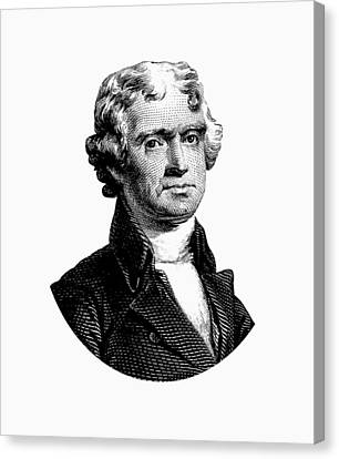 President Thomas Jefferson Graphic Canvas Print by War Is Hell Store