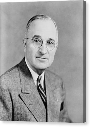 President Truman Canvas Print by War Is Hell Store