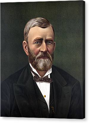 President Ulysses Grant Canvas Print by War Is Hell Store