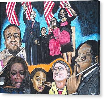 Presidential Election Night 2008 Canvas Print by Koffi Mbairamadji
