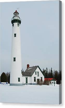 Presque Isle Lighthouse Canvas Print by Michael Peychich