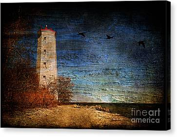 Presquile Lighthouse Canvas Print by Lois Bryan
