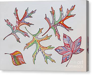 Pressed Leaves Canvas Print by Aimee Mouw