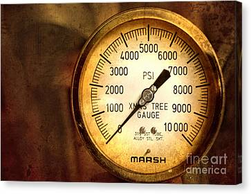 Pressure Gauge Canvas Print by Charuhas Images