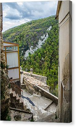 Pretoro - A Village In The Mountains Canvas Print by Andrea Mazzocchetti
