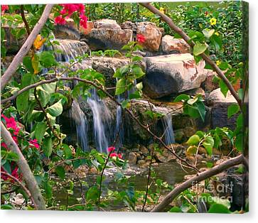 Pretty Garden View Canvas Print by Yali Shi