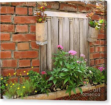 Pretty Garden Wall Canvas Print by Yali Shi