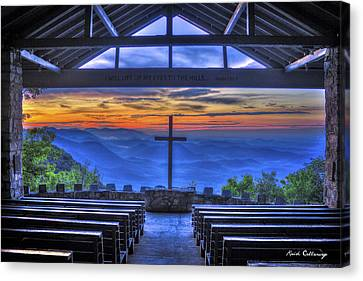 Pretty Place Chapel Sunrise 777  Canvas Print by Reid Callaway