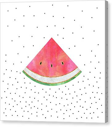 Pretty Watermelon Canvas Print by Elisabeth Fredriksson