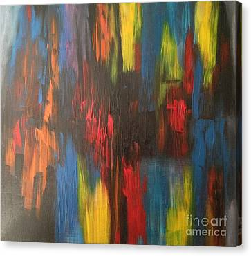 Primary Chaos  Canvas Print by Sandra Gallegos