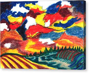 Primary Color Field Canvas Print by Jacquie King