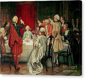Prince Charles Edward Stuart In Edinburgh Canvas Print by William Brassey Hole