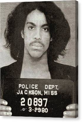 Prince Mug Shot Vertical Canvas Print by Tony Rubino