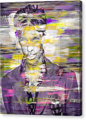 Prince Musician Digital Painting 4 Canvas Print by David Haskett