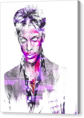 Prince Rogers Nelson Digital Painting Musician Canvas Print by David Haskett