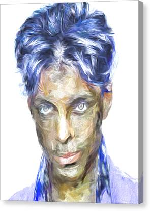 Prince Rogers Nelson Digital Painting Portrait Canvas Print by David Haskett