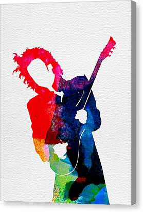 Prince Watercolor Canvas Print by Naxart Studio