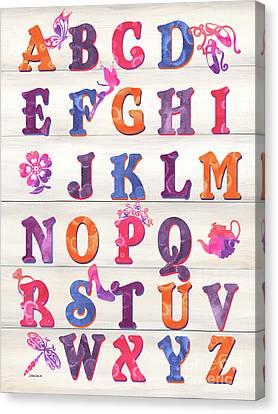 Princess Alphabet Canvas Print by Debbie DeWitt