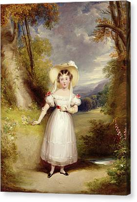 Princess Victoria Aged Nine Canvas Print by Stephen Catterson the Elder Smith