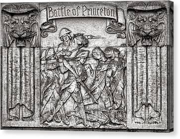 Princeton University Battle Commemorative Plaque Canvas Print by Olivier Le Queinec