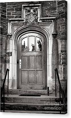 Princeton University Little Hall Entry Door Canvas Print by Olivier Le Queinec