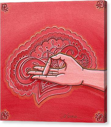 Prithvi Mudra Canvas Print by Sabina Espinet