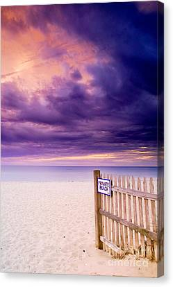 Private Beach Cape Cod Canvas Print by Matt Suess