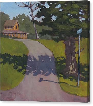 Private Road Canvas Print by Bill Tomsa