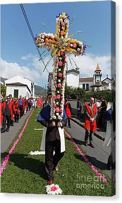 Procession In Furnas - Azores Canvas Print by Gaspar Avila