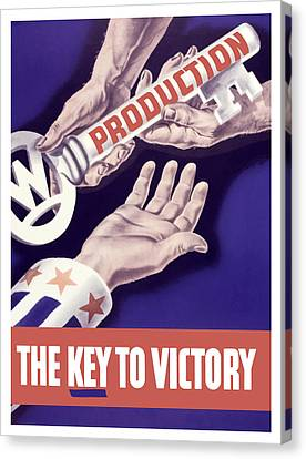 Production - The Key To Victory Canvas Print by War Is Hell Store