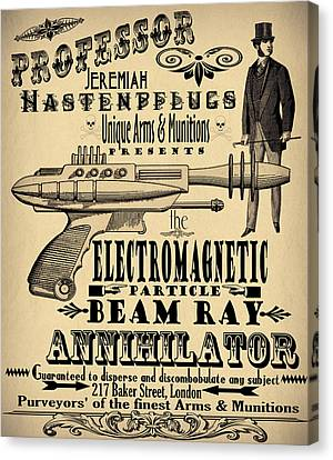Professor H And His Ray Gun Canvas Print by Cinema Photography
