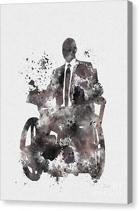 Professor X Canvas Print by Rebecca Jenkins