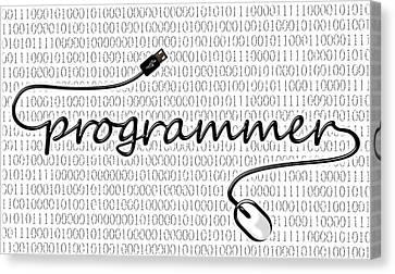 Programmer Canvas Print by Anastasiya Malakhova