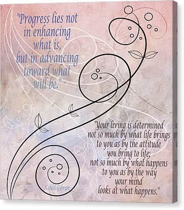 Progress Canvas Print by Angelina Vick