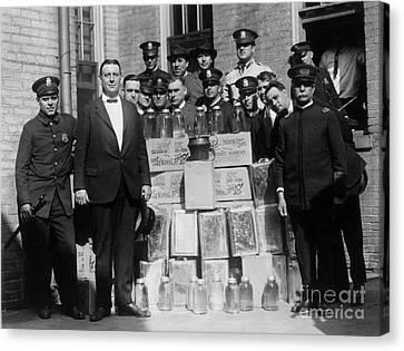 Prohibition Bust Canvas Print by Jon Neidert