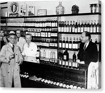 Prohibition Drug Store Canvas Print by Jon Neidert