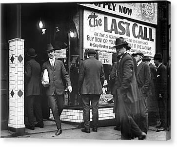 Prohibition Last Call - Detroit - 1919 Canvas Print by Daniel Hagerman