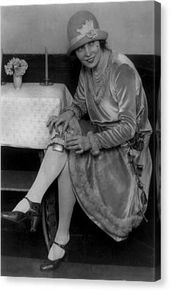 Prohibition, Miss Rhea Seated Canvas Print by Everett