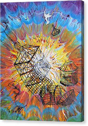 Prophetic Message Sketch 30 Set Free Canvas Print by Anne Cameron Cutri