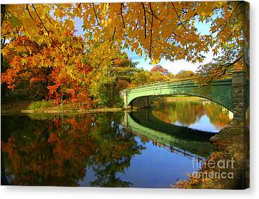 Prospect Park Fall Foliage Canvas Print by Mark Gilman