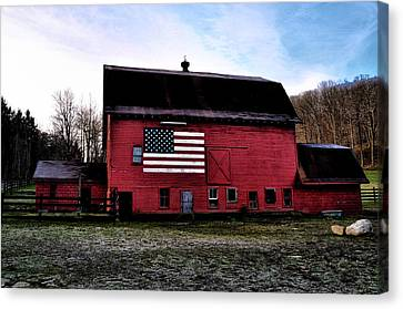 Proud To Be American Canvas Print by Bill Cannon