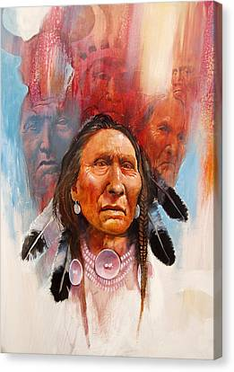 Proud Warrior Canvas Print by Robert Carver