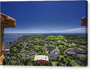 Provincetown Panoramic Aerial Canvas Print by Dapixara Art