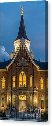 Provo City Center Temple At Night - Utah Canvas Print by Gary Whitton