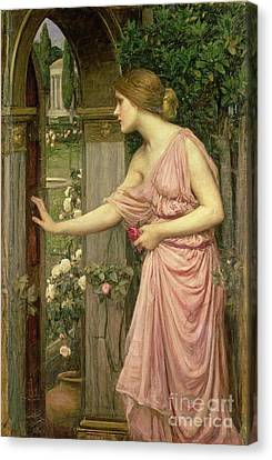 Psyche Entering Cupid's Garden Canvas Print by John William Waterhouse