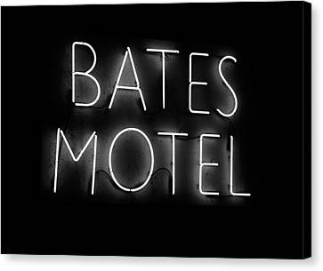 Psycho In Neon Canvas Print by David Lee Thompson