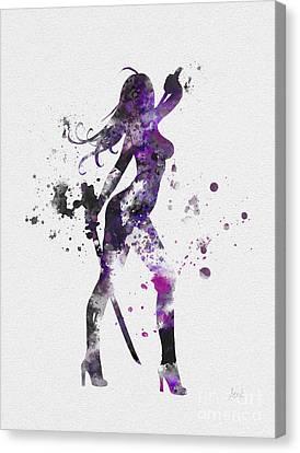 Psylocke Canvas Print by Rebecca Jenkins