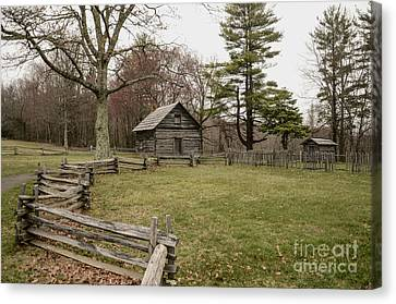Puckett Cabin Canvas Print by Jim Cook