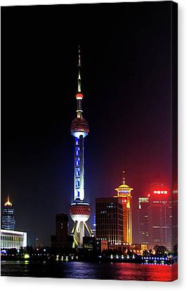 Pudong New District Shanghai - Bigger Higher Faster Canvas Print by Christine Till