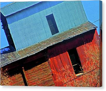 Pueblo Downtown--sweenys Feed Mill Canvas Print by Lenore Senior